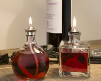Alpha and Cube Oil Candles in wine cellar