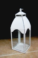 Jaipur White Painted Lantern